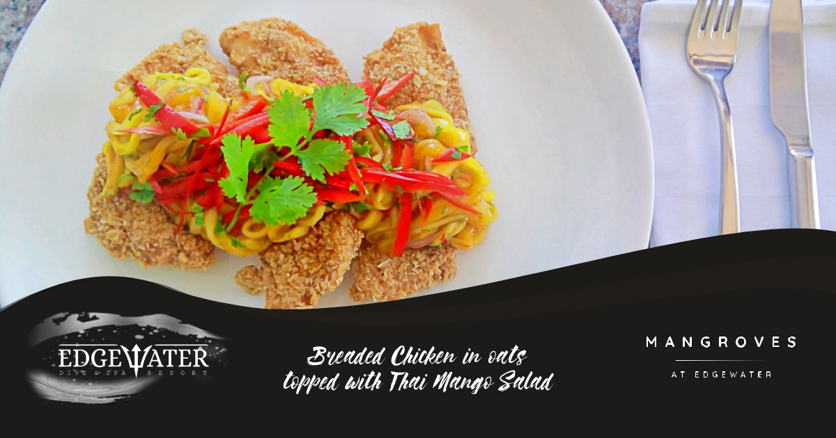 Try our Breaded Chicken with Thai Mango salad